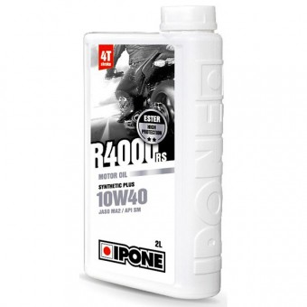 Motorcycle Oil IPONE R4000 RS - 10W40 Synthetic Plus - 2 Litre 4T