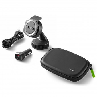 GPS Accessories TomTom Car Mount with Charger and Case Rider 40 - Ride