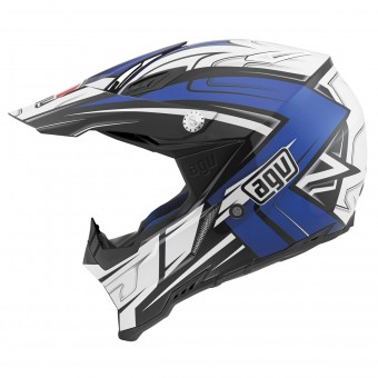 Casque Motocross AGV AX-8 Evo Factory Blue