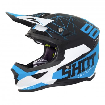 Casque Motocross SHOT Furious Spectre Black Blue Matt