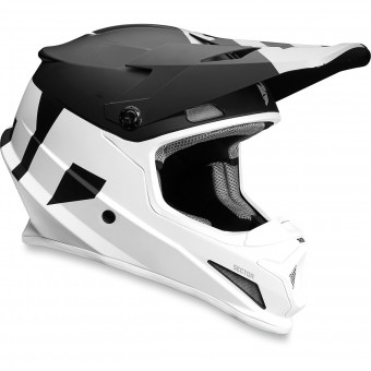 Casque Motocross Thor Sector Level Black White
