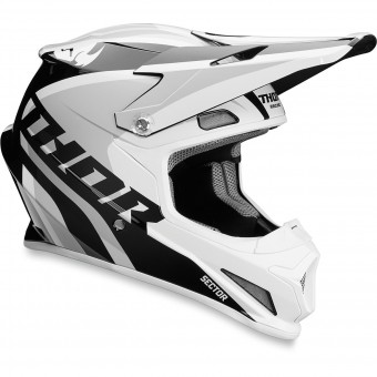 Casque Motocross Thor Sector Ricochet White Grey