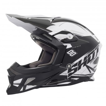 Casque Motocross SHOT Striker Side Black White