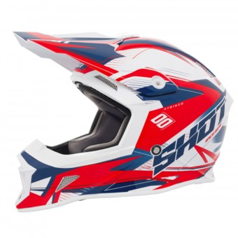 Casque Motocross SHOT Striker Side Blue Red