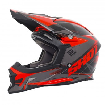Casque Motocross SHOT Striker Side Neon Orange