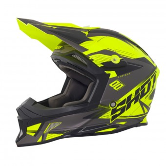 Casque Motocross SHOT Striker Side Neon Yellow