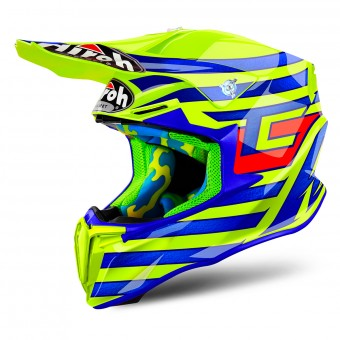 Casque Motocross Airoh Twist Cairoli Qatar Yellow