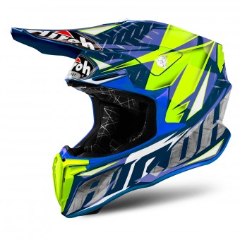 Casque Motocross Airoh Twist Iron Blue
