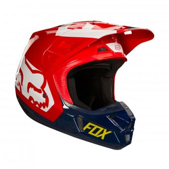 Casque Motocross FOX V2 Preme Navy Red