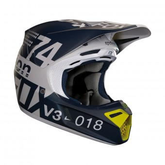 Casque Motocross FOX V3 Draftr Light Grey