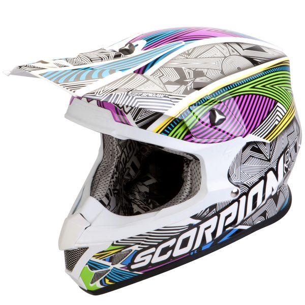 Motocross Scorpion VX-20 Air Geo White Black Multi