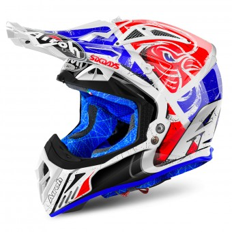 Casque Motocross Airoh Aviator 2.2 Six Days 2018 Red