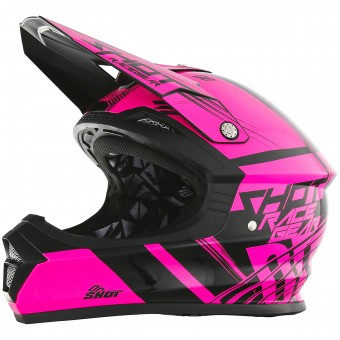 Casque Motocross SHOT Furious Claw Neon Pink