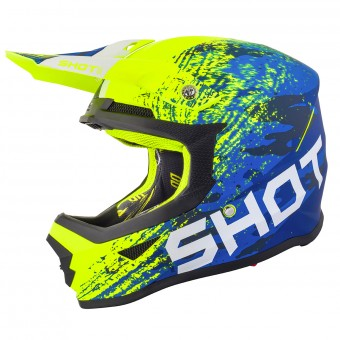 Casque Motocross SHOT Furious Counter Blue Neon Matt Yellow