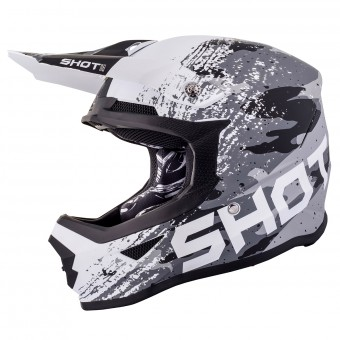 Casque Motocross SHOT Furious Counter Black Matt White