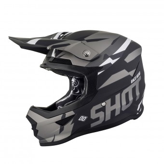 Casque Motocross SHOT Furious Score Metal Black Matt