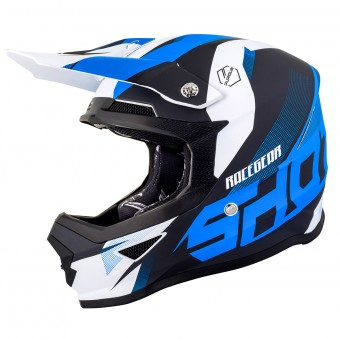 Casque Motocross SHOT Furious Ultimate Blue Matt White