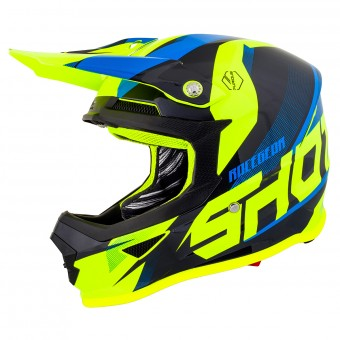 Casque Motocross SHOT Furious Ultimate Blue Yellow