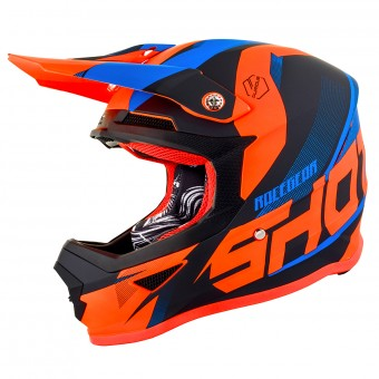 Casque Motocross SHOT Furious Ultimate Blue Neon Orange Matt