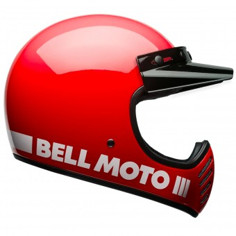 Casque Motocross Bell Moto-3 Classic Red