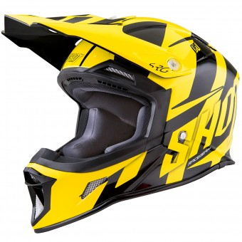 Casque Motocross SHOT Striker System Neon Yellow Black
