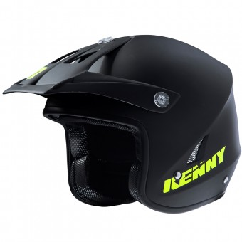 Casque Motocross Kenny Trial Up Matt Black Neon Yellow