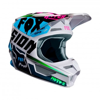 Casque Motocross FOX V1 Czar Light Grey