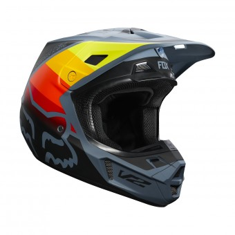 Casque Motocross FOX V2 Murc Steel Blue
