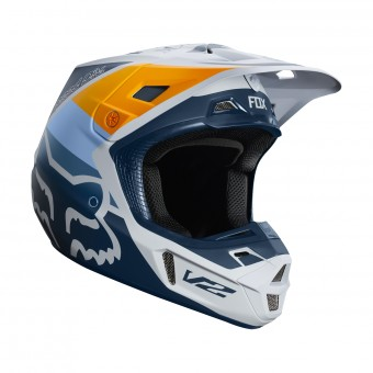 Casque Motocross FOX V2 Murc Light Grey