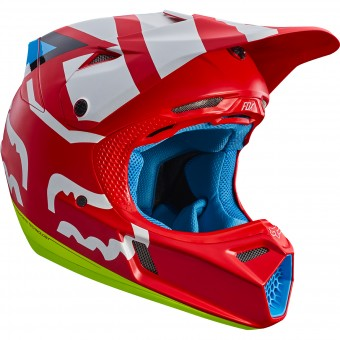 Casque Motocross FOX V3 Creo Red 003