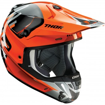 Casque Motocross Thor Verge Vortechs Flo Orange Grey