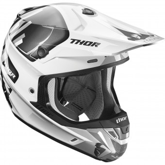 Casque Motocross Thor Verge Vortechs White Grey