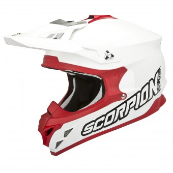 Casque Motocross Scorpion VX-15 Evo Air White Red