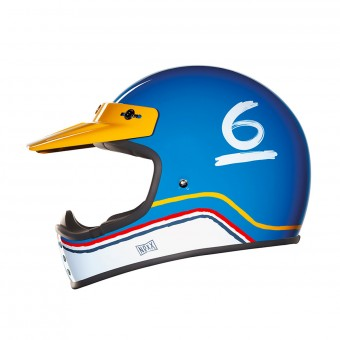 Casque Motocross Nexx X.G200 Flat 6 Blue