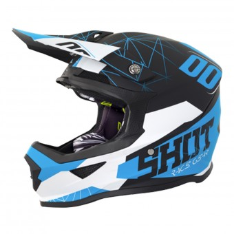 Casque Kids SHOT Furious Spectre Black Blue Kid