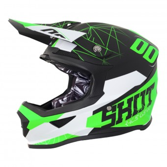 Casque Kids SHOT Furious Spectre Black Green Kid