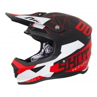 Casque Kids SHOT Furious Spectre Black Red Kid