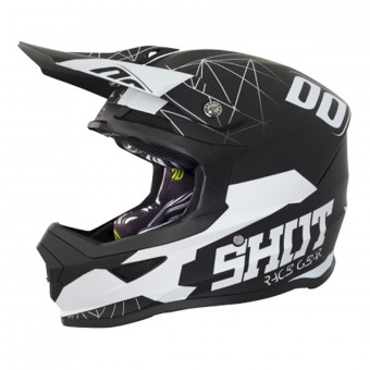 Casque Kids SHOT Furious Spectre Black White Kid
