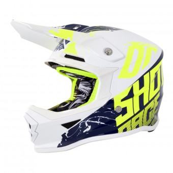 Casque Kids SHOT Furious Venom White Blue Neon Yellow Kid