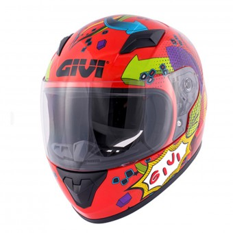 Casque Kids Givi HJ04 Red Deco