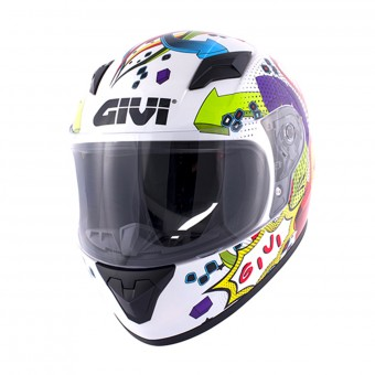 Casque Kids Givi HJ04 White Deco