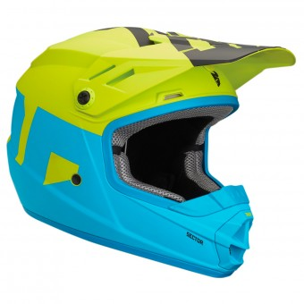 Casque Kids Thor Sector Level Electric Blue Lime Kid