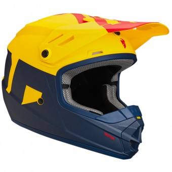 Casque Kids Thor Sector Level Navy Yellow Kid