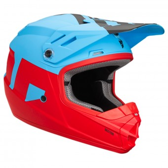 Casque Kids Thor Sector Level Powder Blue Red Kid