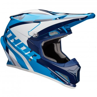 Casque Kids Thor Sector Ricochet Navy Blue White Kid