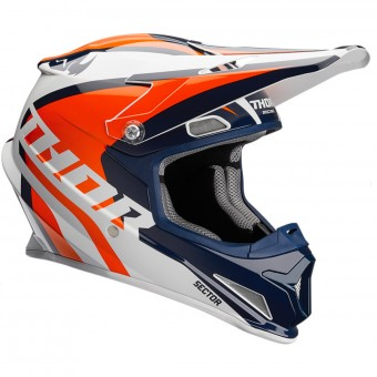 Casque Kids Thor Sector Ricochet Navy Orange White Kid