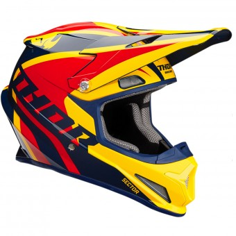Casque Kids Thor Sector Ricochet Navy Yellow Red Kid