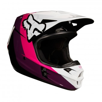 Casque Kids FOX V1 Halyn Black Pink Kids