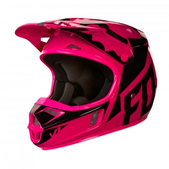 Casque Kids FOX V1 Race Black Pink Kids