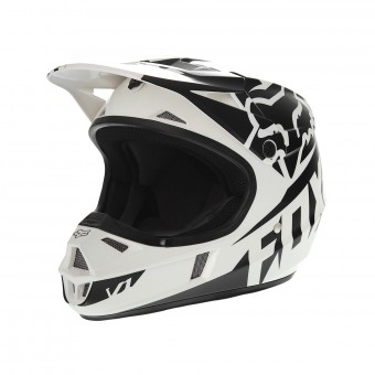 Casque Kids FOX V1 Race Black White kids